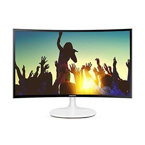 宁美玩购  三星C24F399FH 23.5英寸高清曲面屏幕液晶电脑显示器